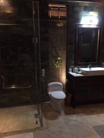 The Ulin Villas & Spa: トイレとシャワー  rest room and shower