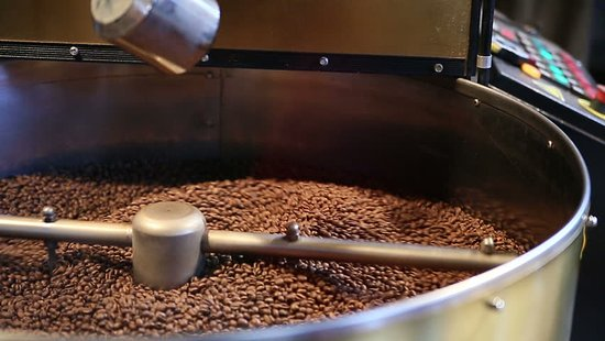 Martinborough, Nueva Zelanda: Roasting fresh espresso beans