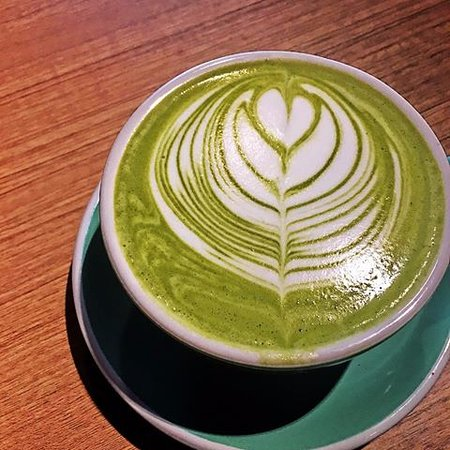Martinborough, Nueva Zelanda: Coconut Matcha Green Tea latte