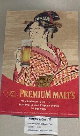 Balmain, ออสเตรเลีย: Happy hour beer SUNTORY Premium Malt's no TAP.
