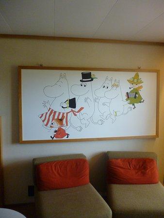 Naantali, Φινλανδία: ムーミン部屋です。至る所にムーミンが・・・。部屋にいるだけで楽しくなりました。