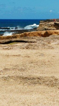 Saint Michael Parish, Barbados: Jolies petites falaises où les vagues viennent exploser sur celles-ci