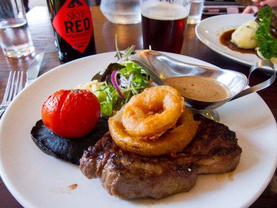 Tarbert, UK: steak cooked well...