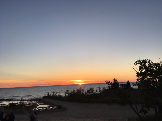 Mears, MI: Sunset over Lake Michigan