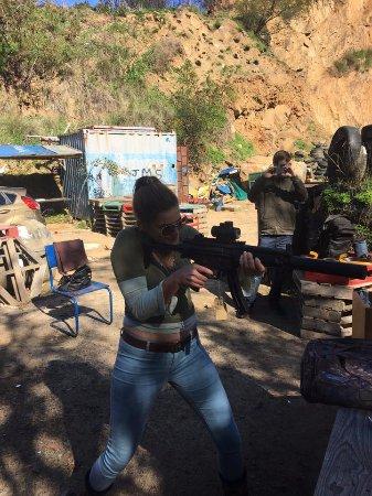 Kapstaden, Sydafrika: girl can shoot ; 0