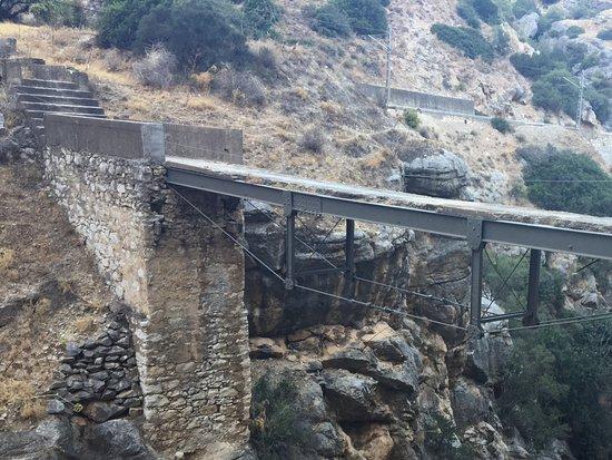 El Chorro, Spanien: Ancienne passerelle