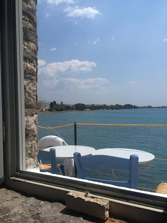 Papoulis: The view (and a couple of tables outside!)