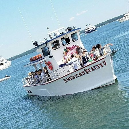 Enjoying an afternoon on the water with American Beauty Cruises & Charters in Sag Harbor