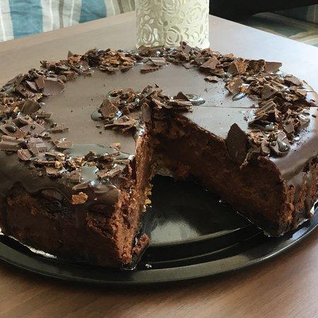 Littlehampton, UK: Chocolate Cheesecake.