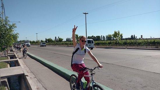 Maipu, Argentina: postal del camino y los viñedos