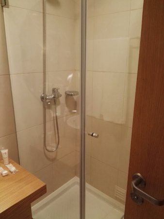 Compact shower room. Be careful the water comes out. - Picture of ...