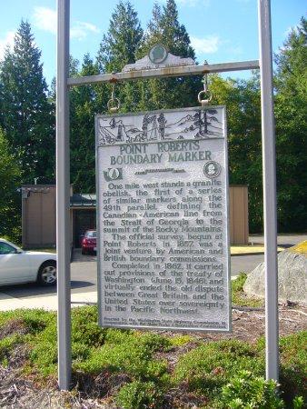 Point Roberts, WA: Boundary Marker near border crossing