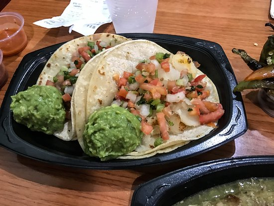 Redlands, CA: Veggie tacos - one with potato and one with beans
