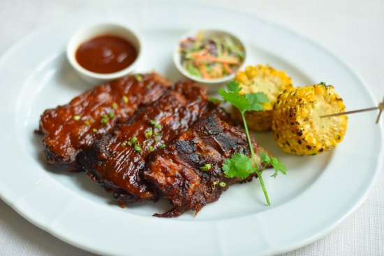 Metro Manila, Philippines: Enrique's Barbecue Ribs (Herb buttered corn, coleslaw, chipotle barbecue sauce)