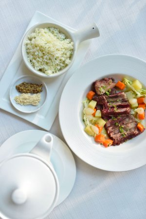 Metro Manila, Philippines: House-Cured Corned Beef (House-Cured Corned Beef, cabbage, potatoes, carrots, cooking broth)