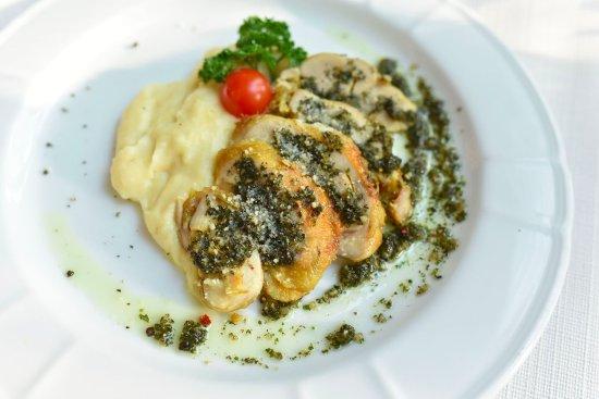 Metro Manila, Philippines: Chimichurri Chicken (Roasted boneless chicken, chimichurri sauce, grana padano, mashed potatoes)