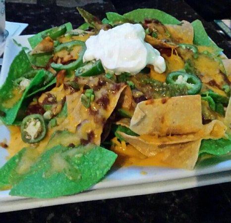 Sterling, VA: Nachos, huge but I don't like green chips.