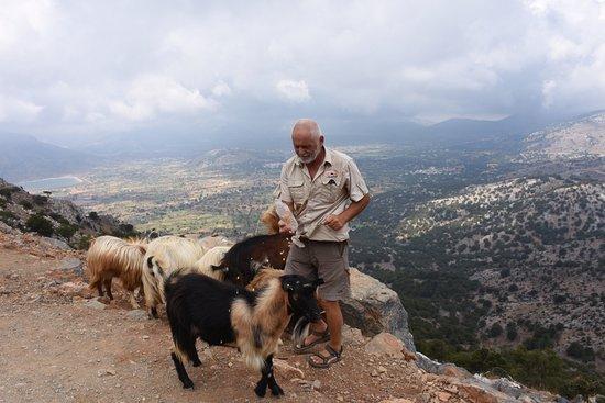 Kreta, Griekenland: vue avec le guide à 1200 m