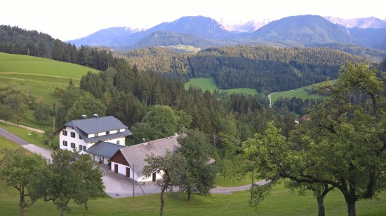 Hinterstoder, Østerrike: View from guesthouse Sonnfeld