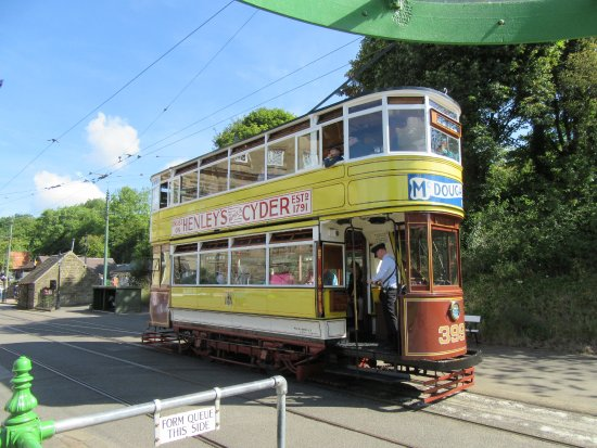 Matlock, UK: One of the many trams at Crich.