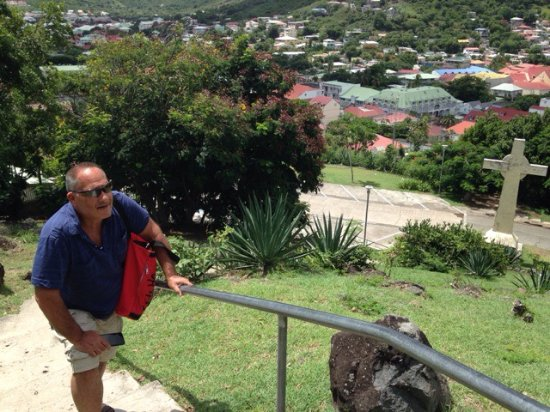 Marigot, St. Maarten-St. Martin: The climb to Ft. Louis. Breath deeply and remember it's easier down than up.