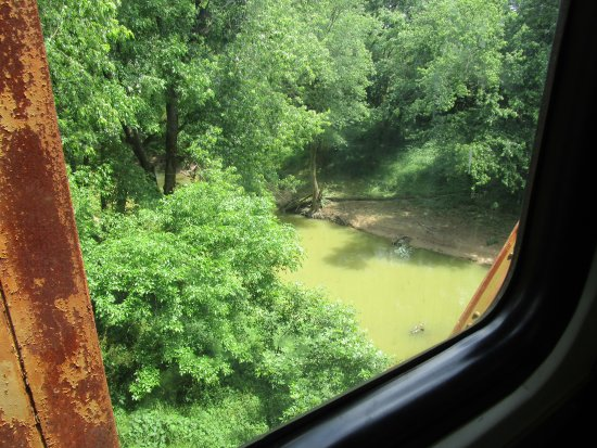 New Haven, KY: Bridge over stream on train ride