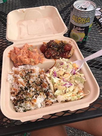 Half and half poke bowl picture of south maui fish for South maui fish company