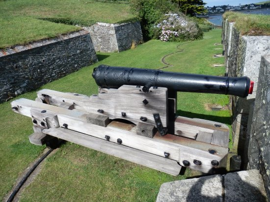 St Mawes, UK: This cannon really adds to the experience.