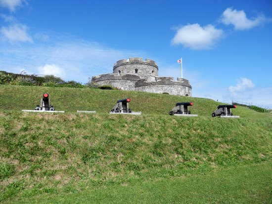 St Mawes, UK: The cannon stand like sentinels within the castle.