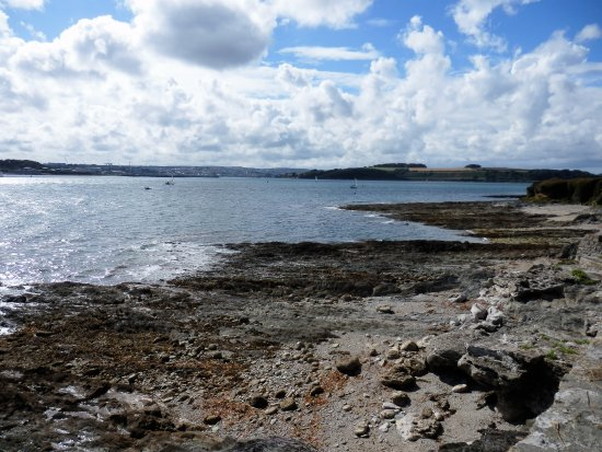 St Mawes, UK: A view up the Fal Estuary.