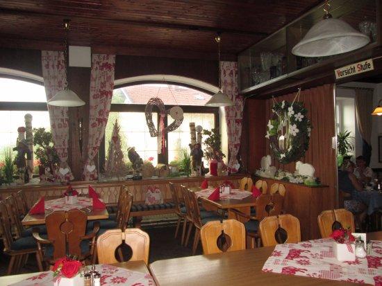 Bischofsmais, Almanya: het restaurant, zeer gezellig!