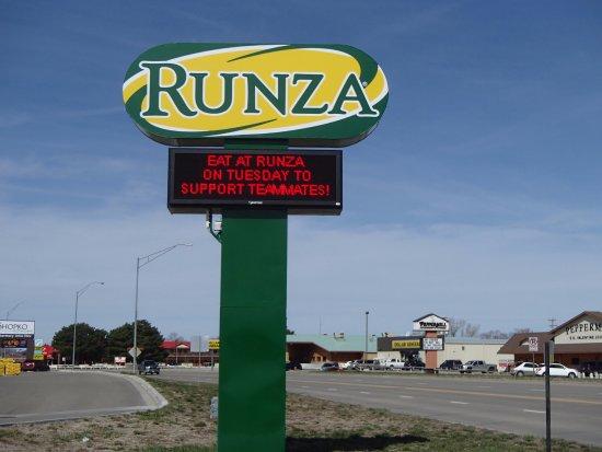 Runza Restaurant Valentine NE Picture Of Runza