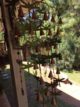 My Bells & Dragonflys mobile from this neat shop, The Dancing Dragonfly, in Black Mountain, N.C.