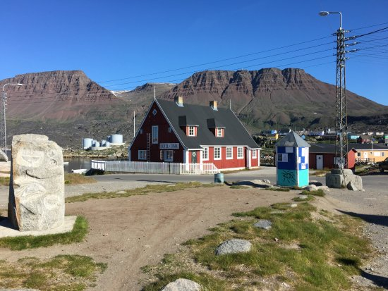 Qeqertarsuaq, Grenlandia: The building I stayed in