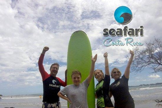Santa Cruz, Costa Rica: Syracuse represents! Family surf together in Tamarindo Costa Rica
