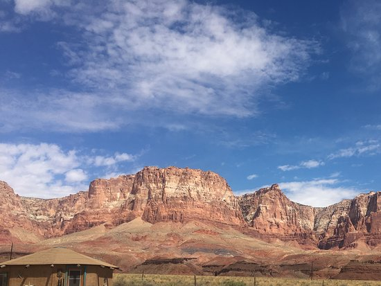 Marble Canyon, AZ: This is in the parking lot, stunning views!