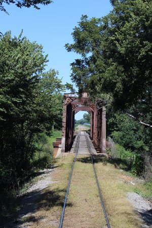 Abilene, KS: An old Rock Island RR trestle..