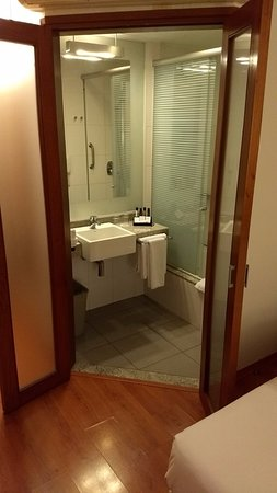 Novotel Lima: this is the part with the shower and sink, separately was the toilet bowl and another sink