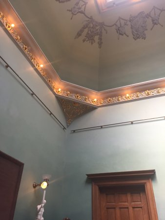General Lew Wallace Study and Museum: lovely lighting and plaster work in Study