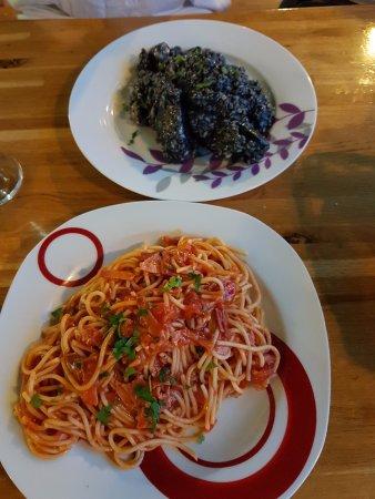 Klek, Croatia: risotto i spaghetti