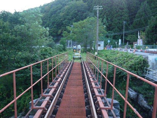 Odate, Ιαπωνία: 鉄橋を渡るレールバイク