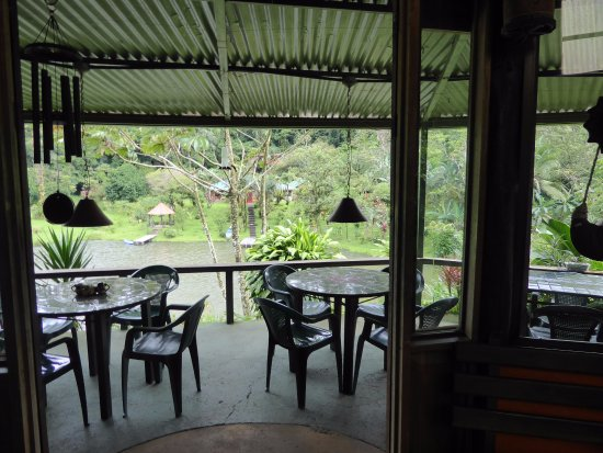 Nuevo Arenal, Costa Rica: View from inside to outside.