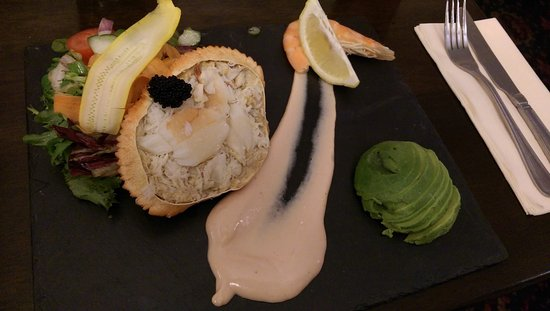 Dinton, UK: Chroma crab with avocado