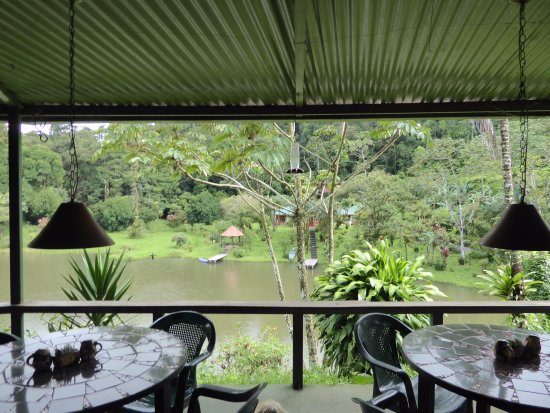 Nuevo Arenal, Costa Rica: View of our private lake from the patio