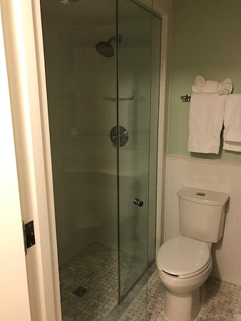 The Carolina Inn: Clean and updated shower. Nice clean toilet.