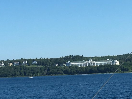 Mackinaw City, MI: View of Grand Hotel from the boat