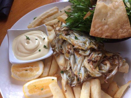 Greymouth, New Zealand: Yummy whitebait fritters!