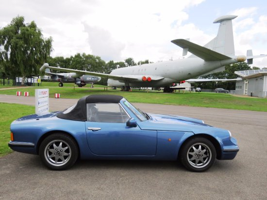 Shifnal, UK: TVR S3 and Aircraft - Gathered at Cosford Museum (12/Aug/17).