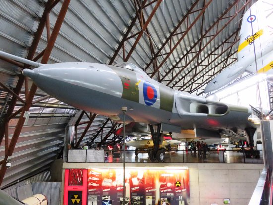 Shifnal, UK: Avro Vulcan Bomber - Cold War Hanger at Cosford Museum (12/Aug/17).