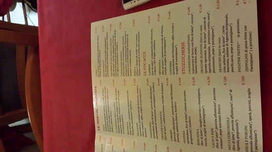 Agerola, Italië: Il menù